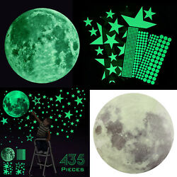 435Pcs Glow In The Dark Luminous Stars & Moon Planet Space Wall Stickers Decal $10.97