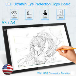A3A4 LED Light Pad Box Drawing Tablet Tracing Tracer Copy Board Eye-Protection $32.99