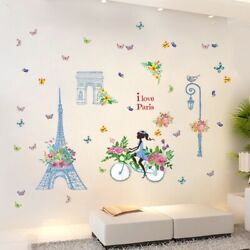 Removable Wall Decal Paris Parian eiffel tower Girl Sticker Home Room DIY Decor $11.99
