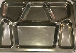 Lot Of 4 Vtg US Military Stainless Steel Metal Mess Hall Cafeteria Tray Prison $47.99