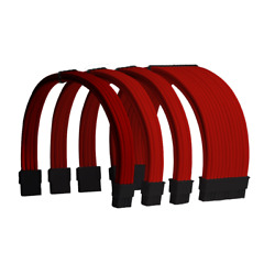 Red Custom Sleeved PC Extensions Cable Basic Kit PSU Power AU $30.99