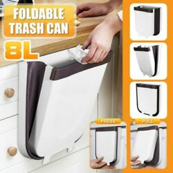Creative Wall Mounted Folding Waste Bin Kitchen Bin Can Rubbish Container Box US $16.99