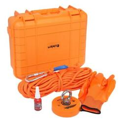 1100lbs Fishing Magnet Kit Strong Neodymium with Rope Gloves Set Treasure Hunt $50.99