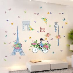 New Removable Wall Decal Paris eiffel tower Girl Sticker Home Room DIY Decor $11.99