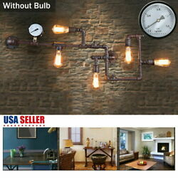 5 Head Vintage Iron Pipe Industrial Hanging Decor Ceiling Lamp Pendant Light USA $37.95