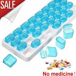 31 Day Monthly Pill Boxes Organiser Tablet Medicine Storage Lid Box Holder Case $12.64