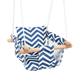 Baby Canvas Hanging Swing with Cotton Indoor Outdoor Toddler Hammock Toy Blue $37.95