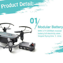 Linxtech IN1601 2.4G 720P Foldable Altitude Hold RC Drone Quadcopter Gifts V9T1 $54.38