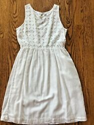 Old Navy Girls White Eyelet Summer Cotton Lined Dress Beach Portraits S $7.99