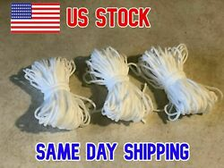 1 8 Inch 3mm Round Elastic White or Black Cord 10 Yards USA Seller $5.50