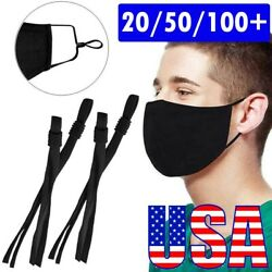 50 Pieces Sewing Elastic Band Cord with Adjustable Buckle for DIY Mask Sewing $6.99