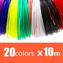 3D Printer Filament 1.75mm 20 Colors Plastic PLA Rainbow For Printing Pens $25.04