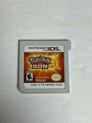 Working Pokemon Sun for Nintendo 3DS Rated Everyone Game Cart Only $15.00