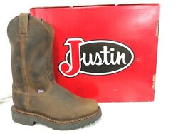 Justin Men#x27;s Work Boot 11quot;J Max USA Made 4444 Round Toe Electrical Hazard $190 $190.00