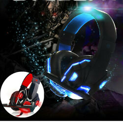 For PS4 Xbox Nintendo Switch PC 3.5mm Stereo Headphones Mic LED Gaming Headset s $17.24