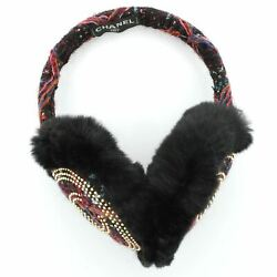 Chanel Earmuffs Studded Tweed with Fur $1,008.00