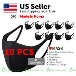 Cooling Nano-Silver Face Mask Cover Unisex Adult Washable Reusable Made in Korea $9.99