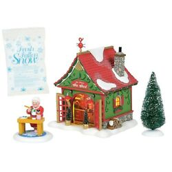 DEPARTMENT 56 NORTH POLE SILVER SERIES MRS CLAUS'S SHE SHED NEW FOR 2020