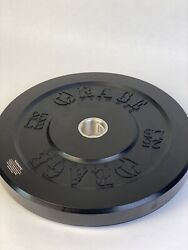 Single 25 lb Black Bumper Weight Plate, Olympic / 2