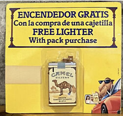 Collectible 1990 Camel Cigarette Pack Lighter • Spanish • See Desc. FREE SHIP!
