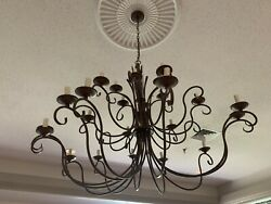 Chandelier Distressed Antique White With Matching Sconce $125.00