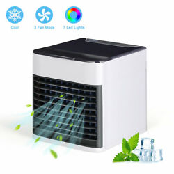 Portable Air Conditioner Cooler Small Mini 3 Modes & 7 Colors Light Air Purifier