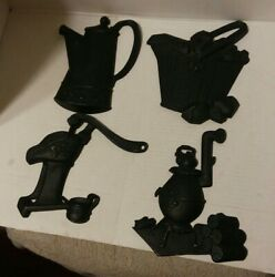 Vintage Sexton Black Cast Iron Metal Kitchen Decor Wall Hangings Made In USA $13.50
