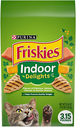 Purina Friskies Indoor Dry Cat Food Indoor Delights Pack of 4 3.15 Lb Bags $20.99