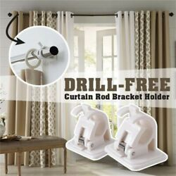 2pcs Nail-free Smart Rod Bracket Holders new $4.99