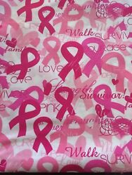 BREAST CANCER SURVIVOR Bandana! 21 X 21 Inches! Great For Masks!!! $3.99