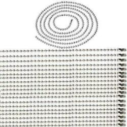 20PCS Silver Tone 316L Stainless Steel Ball Bead Chain Necklace Jewelry Findings $4.58