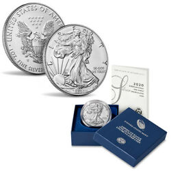 2020-W American Silver Eagle 1oz Burnished Uncirculated Coin OGPCOA $79.95