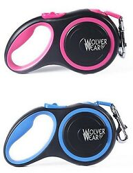 All Belt Retractable Dog Leash. 16#x27; long up to 55 lbs. Reflective colored belt $11.00
