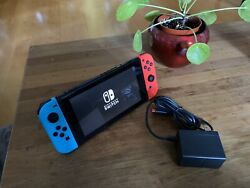 Nintendo Switch 32GB Gaming Console Neon Red Blue HAC-001 $349.00