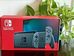 NEW Nintendo Switch V2 32GB Console with Gray JoyCon Ships Now Brand New Version $381.00