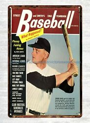decorative wall lights 1962 Street & Smith's Annual Baseball Yearbook tin sign $15.95