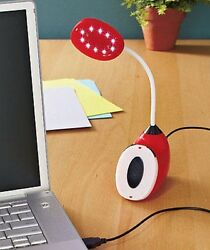 Red USB LED Touch Lights Desk Lamp Lighting Touch Reading PC Flexible Lamp $12.99