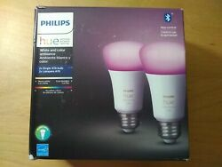 New Philips Hue White and Color Ambiance 2-Pack A19 LED Smart Bulb $79.00