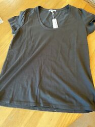 NEW NWT James Perse BLACK Tee short sleeves Perse 3 LARGE washable $30.00