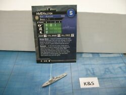 Axis & Allies War at Sea Surface Action HMS Halcyon 5/40 DAMAGED BOTTOM $3.00