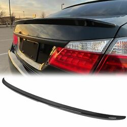 For 2013-2017 Honda Accord 4DR Sedan Painted Glossy Black Trunk Lid Spoiler Wing $52.50
