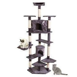 80quot; Cat Tree Tower Condo Climbing Furniture Scratching Post Pet Kitty US Ship $62.90