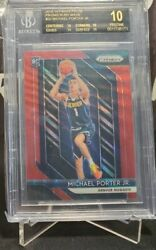Michael Porter Jr BGS 10 Black Label Ruby Wave Prizm 2018 19 Prizm Basketball $7500.00