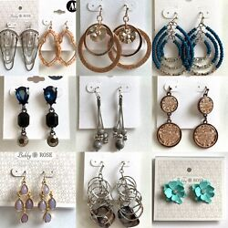 Department Store New Wholesale Lot of 10 Pairs of Earrings Aamp;I Bobby Rose