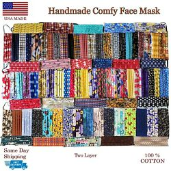 Soft Face Mask * Nose Wire * Washable Protective Reusable w Pleats Comfy USA  $11.50