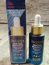 Pacifica WATER BOUNCE Booster Serum pea peptides kelp 1oz Moisturize shot $15.99