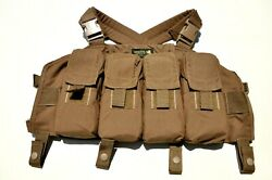 London Bridge Trading Co LBT-0290D Coyote Chest Rig W LBT Black-Gold Patch NEW $55.00
