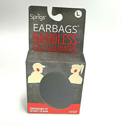 New Sprigs Earbags Bandless Ear Warmers Earmuffs Black Size Large L w Thinsulate $15.00