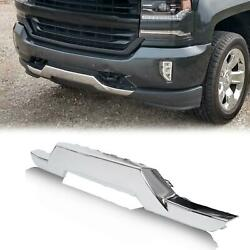 Front Bumper Chrome Skid Plate For Chevrolet 16 18 Silverado 1500 OE replacement $67.60