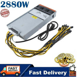 Mining Power Supply 2880W High Efficiency With Harness Cable For Antminer BS $62.55